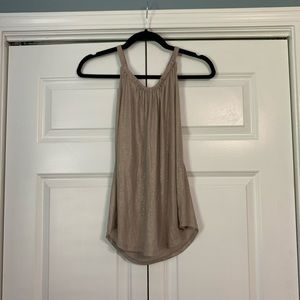 Beige tank top with gold shimmer!